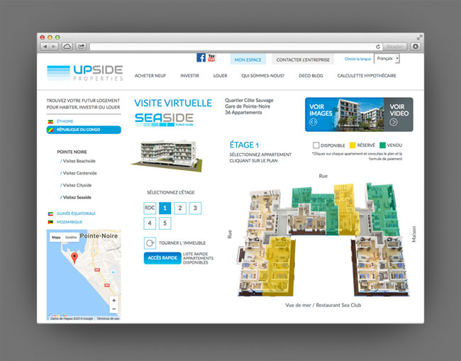 Upside Properties web