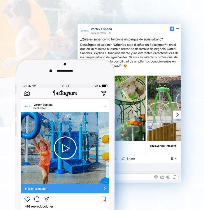 Campaña redes sociales Vortex