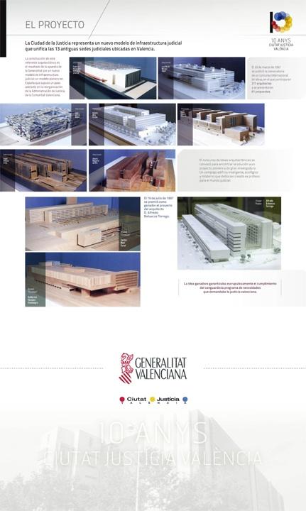 Expositor 10 anys Ciutat de la Justicia de Valencia