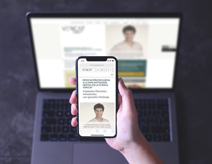 Web responsiva Vericat
