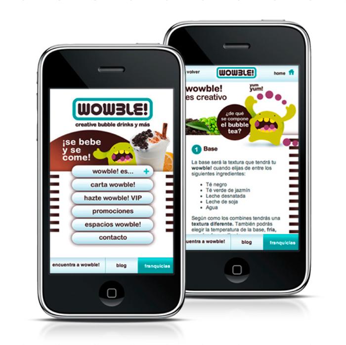 Web móvil Wowble!